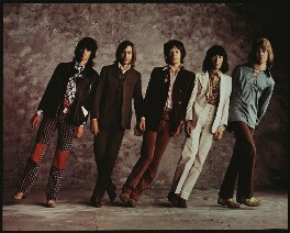 The Rolling Stones (Keith Richards; Charlie Watts; Mick Jagger; Bill Wyman; Mick Taylor), by Peter Webb, 1970s - NPG x87563 - © Peter Webb