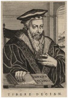 Tiberius Decian, by Edme de Boulonois - NPG D17022