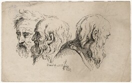 Three head studies, by Joseph Fussell - NPG D17051