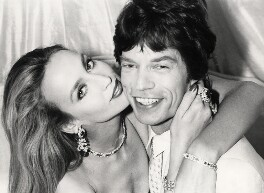 Mick Jagger; Jerry Hall, by Norman Parkinson, July 1981 - NPG x30177 - © Norman Parkinson Archive