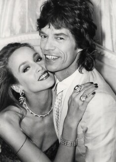 Mick Jagger; Jerry Hall, by Norman Parkinson, July 1981 - NPG x30178 - © Norman Parkinson Archive