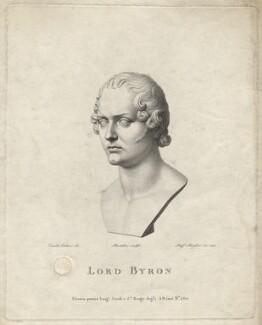 George Gordon Byron, 6th Baron Byron, by Raphael Morghen, after  Lorenzo Bartolini, 1822 - NPG D17067 - © National Portrait Gallery, London