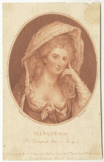 Miranda: The Tempest Act 1 Sc 2, by and published by Francesco Bartolozzi, after  Benjamin Meyer, published 1779 - NPG  - © National Portrait Gallery, London