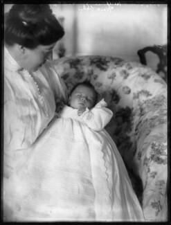 Hon. Eleanor Hereford (née Cockburn); Robert James Hereford, by Bassano Ltd - NPG x104242