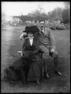Hon. Eleanor Hereford (née Cockburn); James Tuder Hereford, by Bassano Ltd - NPG x104243
