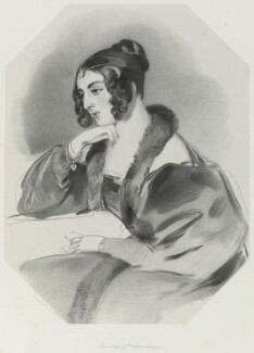 Corisande Emma Harris (née Bennet), Countess of Malmesbury, by Richard James Lane, after  Sir Edwin Henry Landseer, 1846 - NPG D21687 - © National Portrait Gallery, London