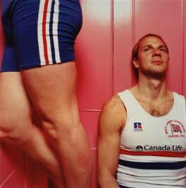 Matthew Pinsent; Steve Redgrave, by Alistair Morrison - NPG x77046