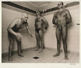 Duncan Goodhew; Adrian Moorhouse; David Wilkie, by Alistair Morrison - NPG x77041