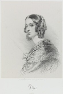 Lady Elizabeth Dorothy Anne Georgiana Grey (née Howard), by Richard James Lane, printed by  M & N Hanhart, after  George Dodgson Tomlinson - NPG D21745