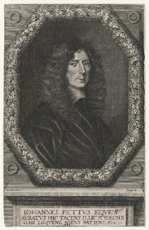 Sir John Pettus, by William Sherwin, after  Unknown artist - NPG D17085