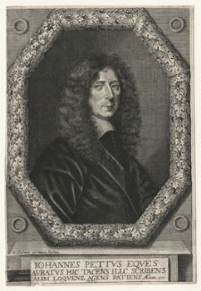 Sir John Pettus, by William Sherwin, after  Unknown artist - NPG D17086