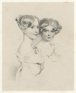 Two unknown girls, by Richard James Lane - NPG D21788