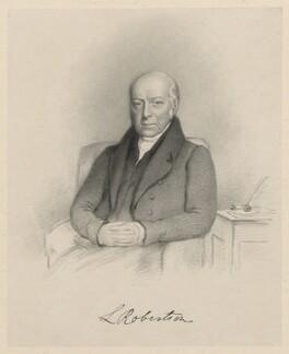 L. Robertson, by Richard James Lane - NPG D21795