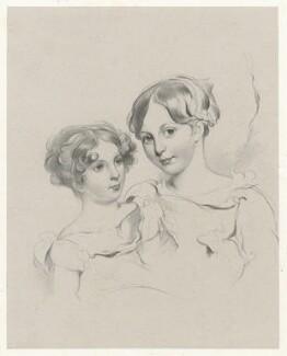 Two unknown girls, by Richard James Lane - NPG D21803
