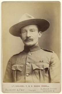 Robert Baden-Powell, by Francis Henry Hart, for  Elliott & Fry, 1896 - NPG x126841 - © National Portrait Gallery, London
