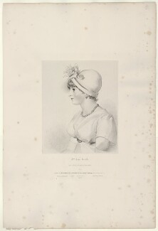 Priscilla Kemble (née Hopkins), by Richard James Lane, printed by  Charles Joseph Hullmandel, published by  Joseph Dickinson, after  Sir Thomas Lawrence - NPG D21822