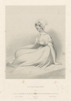 'Seated girl', by Richard James Lane, printed by  Charles Joseph Hullmandel, published by  Joseph Dickinson, after  Sir Thomas Lawrence - NPG D21828