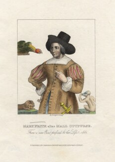 Mary Frith ('Moll Cutpurse'), by Robert Cooper, published by  Charles Baldwyn, published by  Henry Baldwyn - NPG D17096