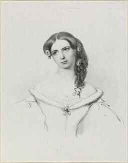 Helen Faucit (Helena (née Faucit Saville), Lady Martin), by Richard James Lane, after  Sir Frederic William Burton - NPG D21855