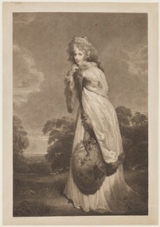 Elizabeth (née Farren), Countess of Derby, by Francesco Bartolozzi, published by  Bull & Jeffryes, after  Sir Thomas Lawrence - NPG D17080