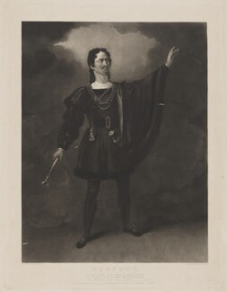Henry Gaskell Denvil as Manfred, by James Egan, published by  B.B. King, sold by  Ackermann & Co, after  Henry Farrer - NPG D17079