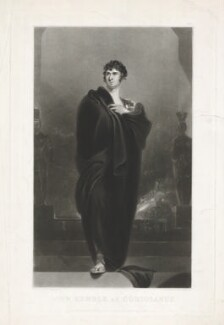 John Philip Kemble as Coriolanus, by William Oakley Burgess, published by  Marseille Middleton Holloway, after  Sir Thomas Lawrence - NPG D17077