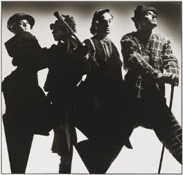 Sibylle de Saint Phalle; John Flett; John Charles Galliano; Barry Metcalf, by Nick Knight, 1985 - NPG x26094 - © Nick Knight