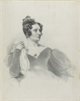Anna Brownell Jameson (née Murphy), by Richard James Lane, printed by  Graf & Soret, after  Henry Perronet Briggs - NPG D21874