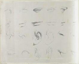 Studies for faces, by Richard James Lane, printed by  Engelmann, Graf, Coindet & Co - NPG D21876