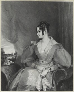 Lady Mary Fox (née FitzClarence), by Richard James Lane, printed by  Graf & Soret, published by  Joseph Dickinson, after  Gilbert Stuart Newton - NPG D21877