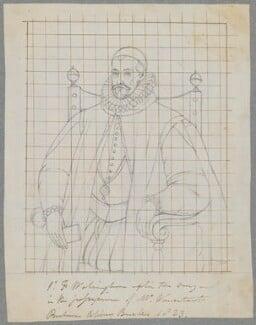 Sir Francis Walsingham, by Henry Bone, possibly after  John De Critz the Elder, 1823 - NPG D17107 - © National Portrait Gallery, London