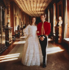 Princess Anne; Mark Phillips, by Norman Parkinson - NPG x30172