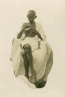 Mahatma Gandhi, by Unknown photographer, 1940s - NPG x126896 - © National Portrait Gallery, London