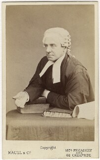 Henry Hawkins, Baron Brampton, by Maull & Co, mid 1870s - NPG Ax5069 - © National Portrait Gallery, London