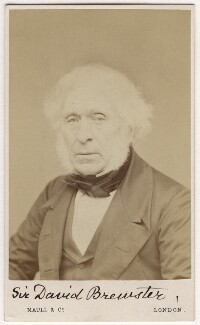 Sir David Brewster, by Maull & Co, after  Maull & Polyblank, 1860s (mid-late 1850s) - NPG Ax5070 - © National Portrait Gallery, London