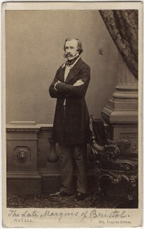 Frederick William Hervey, 2nd Marquess of Bristol, by John Jabez Edwin Mayall, early 1860s - NPG Ax5073 - © National Portrait Gallery, London