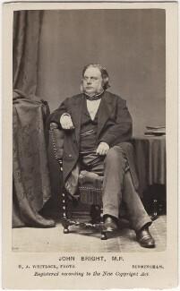 John Bright, by Henry Joseph Whitlock - NPG Ax5072