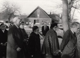 Group at at Benjamin Britten's funeral, by East Anglian Daily Times - NPG x15267