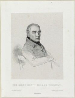 George Tierney, by Richard James Lane, printed by  Charles Joseph Hullmandel, after  William Henry Hunt - NPG D21946