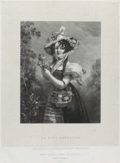 'La rosa parlante', by Richard James Lane, printed by  Charles Joseph Hullmandel, published by  Joseph Dickinson, after  Alfred Edward Chalon - NPG D21956