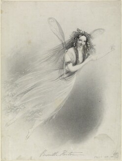 Priscilla Horton as Ariel in 'The Tempest', by Richard James Lane, after  Alfred Edward Chalon, 1838 - NPG  - © National Portrait Gallery, London