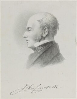John Constable, by Richard James Lane, after  Charles Robert Leslie, circa 1825-1850 - NPG D21958 - © National Portrait Gallery, London