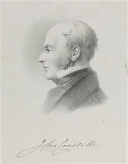 John Constable, by Richard James Lane, after  Charles Robert Leslie - NPG D21958
