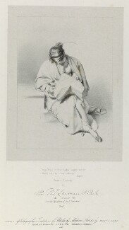'Seated woman', by Richard James Lane, printed by  Charles Joseph Hullmandel, published by  Joseph Dickinson, after  Sir Thomas Lawrence - NPG D21965