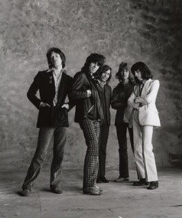 The Rolling Stones (Mick Jagger; Keith Richards; Charlie Watts; Mick Taylor; Bill Wyman), by Peter Webb, May 1971 - NPG x87570 - © Peter Webb