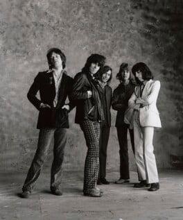 The Rolling Stones (Mick Jagger; Keith Richards; Charlie Watts; Mick Taylor; Bill Wyman), by Peter Webb, May 1971 - NPG x87570 - © Peter Webb