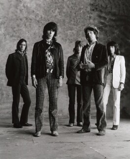 The Rolling Stones (Charlie Watts; Keith Richards; Mick Taylor; Mick Jagger; Bill Wyman), by Peter Webb - NPG x87571