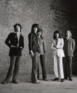 The Rolling Stones (Mick Jagger; Keith Richards; Mick Taylor; Bill Wyman; Charlie Watts), by Peter Webb, May 1971 - NPG x87572 - © Peter Webb