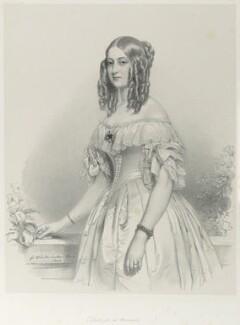 Princess Victoria of Saxe-Coburg and Gotha, Duchess de Nemours, by Richard James Lane, after  Franz Xaver Winterhalter, 1841 (1840) - NPG D21984 - © National Portrait Gallery, London