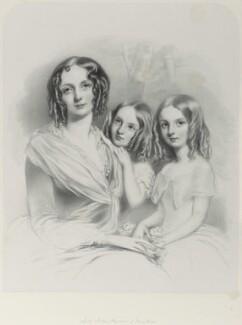 Anna Constantia (née Beresford), Lady Thynne; Selina Thynne; Emily Thynne, by Richard James Lane - NPG D21996